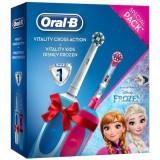 Set Periuta de dinti electrica Oral B Vitality & Periuta de dinti electrica Frozen pentru copii