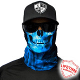 Bandana/Face Shield/Cagula/Esarfa - Skull Tech | Blue Crow, made in USA, Din imagine