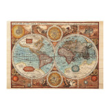 Puzzle - Harta lumii din 1626 (500 piese) PlayLearn Toys