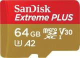 Card de memorie Sandisk Extreme Plus 64GB Clasa 10 UHS-I U3 + Adaptor
