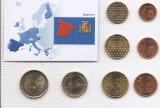 Spania Set 8C - 1, 2, 5, 10, 20, 50 euro cent, 1, 2 euro 2011 - UNC !!!