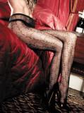 Ciorapi - Baci Ciorapi Negri din Plasa cu Stelute 1073