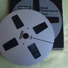 Rola Metalica Magnetofon (cu banda pe ea) - UHER 18 cm