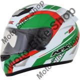 MBS Casca integrala AFX FX95, M, alb/verde/rosu, Cod Produs: 01019597PE