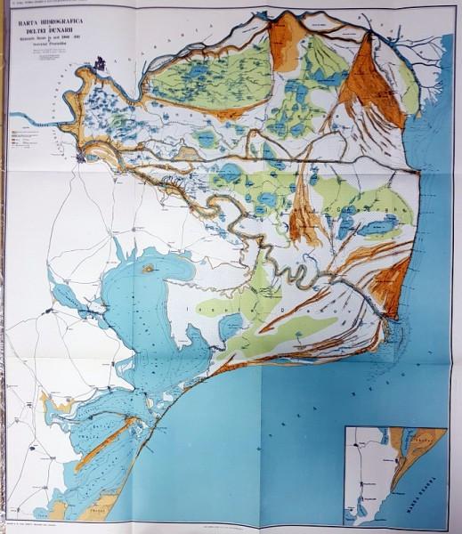 Harta Hidrografica a Deltei Dunarii