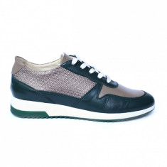 Pantofi dama din piele naturala, Naty, Peter, Verde, 35 EU