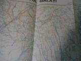 HARTA HIDROGRAFICA 1/200000-JUDETUL GALATI-