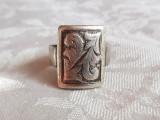 INEL argint FRANTA art nouveau 1900 SPLENDID de efect MOTIVE VEGETALE superb RAR