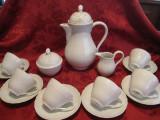 SET / SERVICIU CAFEA PORTELAN HUTSCHENREUTHER DRESDEN CESTI FARFURII CEAINIC