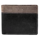 Portofel barbati, Leonardo Verrelli, protectie RFID, piele, negru bicolor