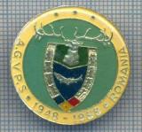 AX 143 INSIGNA VANATOARE SI PESCUIT SPORTIV PERIOADA RSR -A.G.V.P.S -1948-1988