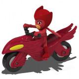 Motocicleta Dickie Toys Eroi in Pijama Moon Rover cu figurina Owlette