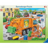 Puzzle Masina de colectat gunoi, 35 piese Ravensburger