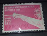 TSV$ - RPR 1958 LP 453 CRITERIUL MONDIAL AL TINERETULUI LA SCRIMA MNH/** LUX, Nestampilat