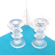 Suporturi cristal lumanare - Festivo - design Timo Sarpaneva, Iittala Finlanda