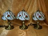 Veioze stil Baroc, alama, sticla, trandafiri, colectie, vintage