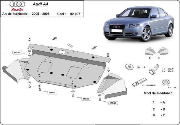 Scut motor metalic Audi A4 B7 2005-2008