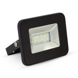 REFLECTOR LED SMD 10W 6000K IP65 EXTRA SLIM NEGRU