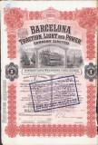 LA37 Actiune societate tramvaie Barcelona perioada interbelica 1922