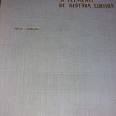 GEOMETRIE ANALITICA SI ELEMENTE DE ALGEBRA LINIARA TEODORESCU