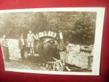 Fotografie - Caruta cu cai la adapat la Izvor de Munte -interbelica Romania