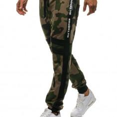 Pantaloni sportivi joggers pentru bărbat camuflaj-verzi Bolf 0877