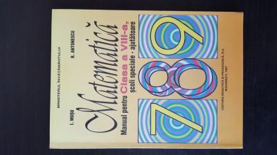 MATEMATICA - Manual pentru clasa a VIII-a, scoli seciale - ajutatoare, 1997 foto