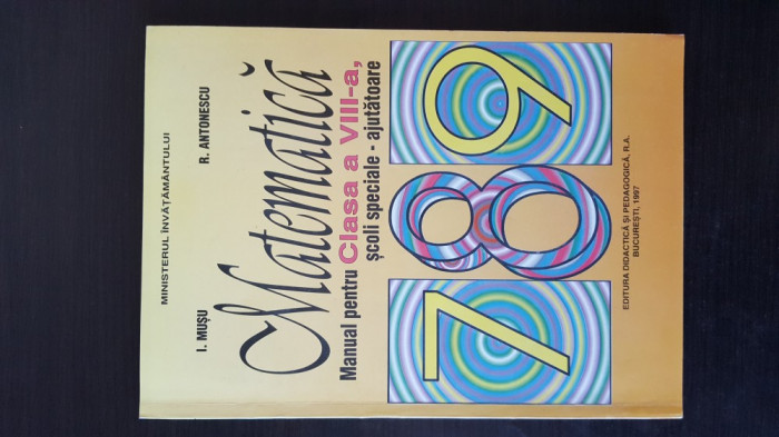 MATEMATICA - Manual pentru clasa a VIII-a, scoli seciale - ajutatoare, 1997