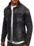 Cumpara ieftin Geacă de blugi neagră bărbați Bolf XSF78268