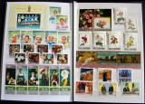 Clasor straine MNH 308 timbre + 18 colite, serii complete nestampilate