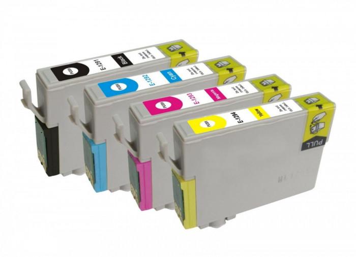 Set Cartuse Cerneala Compatibile Epson T1291 T1292 T1293 T1294 - C13T12914010, C13T12924010, C13T12934010, C13T12944010 - (BK + C+ M + Y)