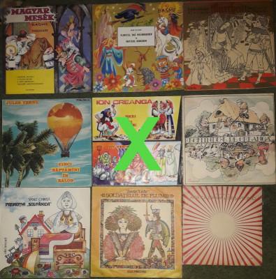vinyl Povesti,basme Ali Baba,scandinave,1001 nopti,Pinocchio,Winnetou,Dumas foto
