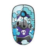 Cumpara ieftin Mouse Trust Sketch Silent Click, Wireless, 1600 DPi, 3 Butoane, Scroll, Senzor Optic, Albastru