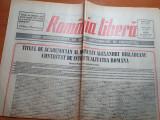 Ziarul romania libera 29 martie 1991