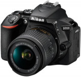 Aparat Foto D-SLR Nikon D5600, Obiectiv AF-P 18-55 VR, 24.2 MP, Filmare Full HD, WiFi (Negru)