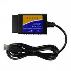 Interfata diagnoza auto Techstar OBD2 USB cu Cip ELM V1.5