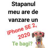 Telefon mobil Apple iPhone SE 2020, 64GB, negru deblocat, liber de retea + husa, Neblocat