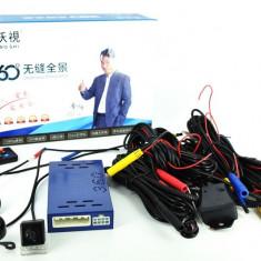 Sistem de parcare cu 4 camere video si 360 grade FHD cu functie de inregistrare Cod: 360V6 12V ManiaCars