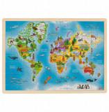 Puzzle lemn Lumea, 192 piese