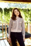 Pulover Dariana roz cu detalii caramizii