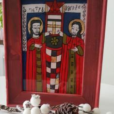 Sfintii Petru si Pavel-Icoana pictata pe sticla