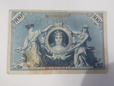 Bancnote Germania - 100 marci 1908 foto