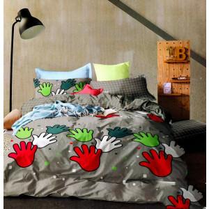 Lenjerie de pat din Bumbac 2 persoane 4 piese HX 34