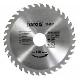 Disc fierastrau circular pentru lemn, 36 de dinti din carbura de wolfram, 160x30x2mm, Yato YT-6057