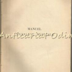 Manuel D'Analyse Musicale - W. R. Spalding