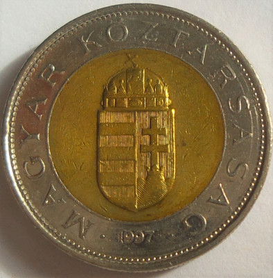 Moneda bimetal 100 FORINTI - UNGARIA, anul 1997 *cod 2313 A foto