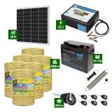 Pachet Gard electric 8,5J putere cu Panou Solar si 6000m de fir 160Kg