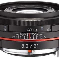 Obiectiv Foto Pentax HD DA 21mm F/3.2 AL Limited Black