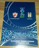 Program Fotbal Dinamo Besiktas Istanbul 2006 UEFA Cup bilet Romania