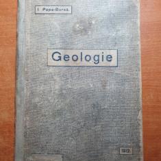 manual de geologie pentru clasa a 4-a secundara din anul 1912